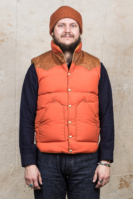 Warehouse & Co x Rocky Mountain Featherbed Down Vest Brick