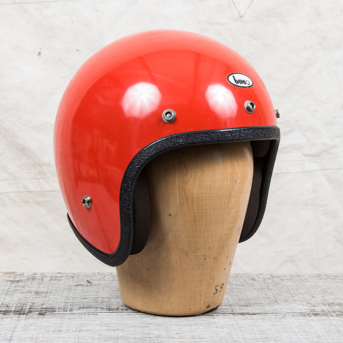 Vintage 1970s Buco Helmet Deep Orange