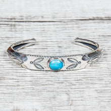 Larry Smith Triangle Repousse Bangle Turquoise BR-0140