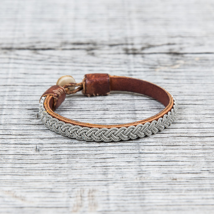 Vintage Tin Wired Bracelet