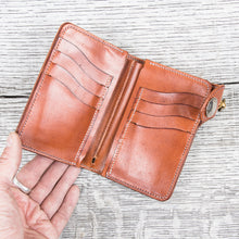 Lone Wolf Leathers Handmade Medium Wallet Saddle Tan