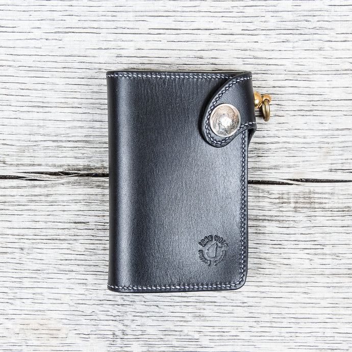 Lone Wolf Leathers Handmade Medium Wallet Black