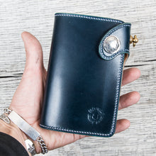 Lone Wolf Leathers Medium Wallet Shinki Shell Cordovan Navy