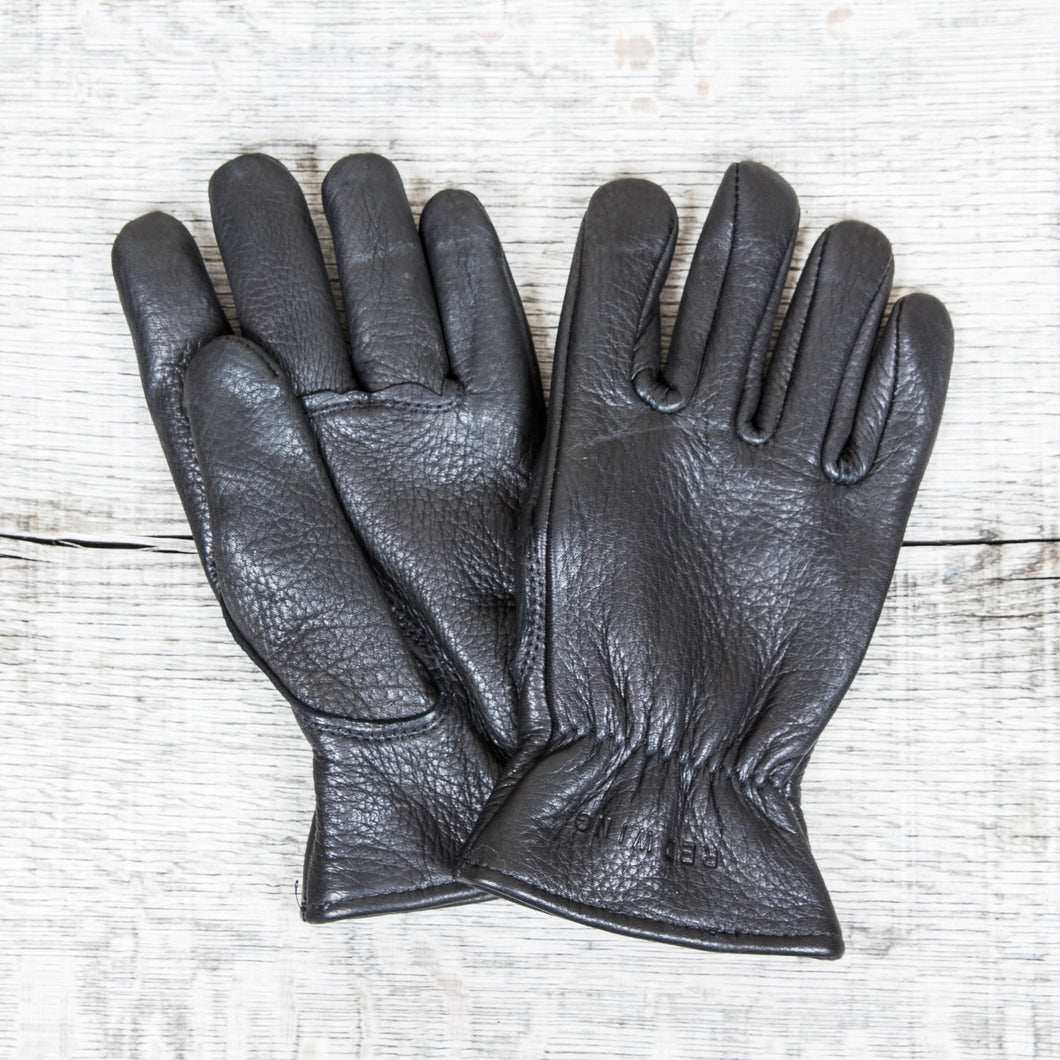 Red Wing Buckskin Leather Gloves Lined Black