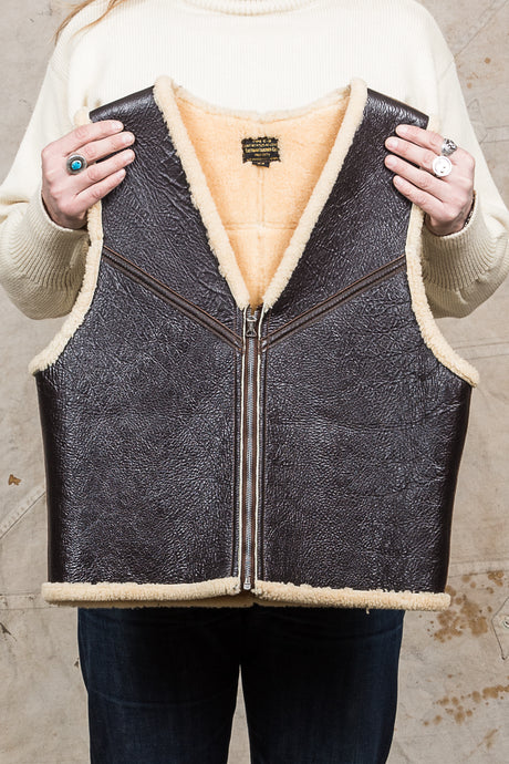 Second Hand Eastman Leather C-3 Shearling Vest