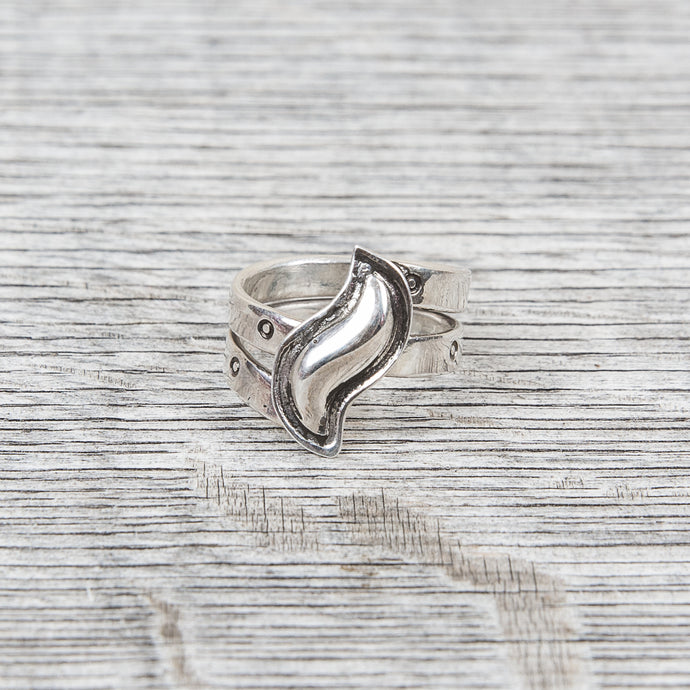 Tenable Crafts Wrap Around Silver Ring #112