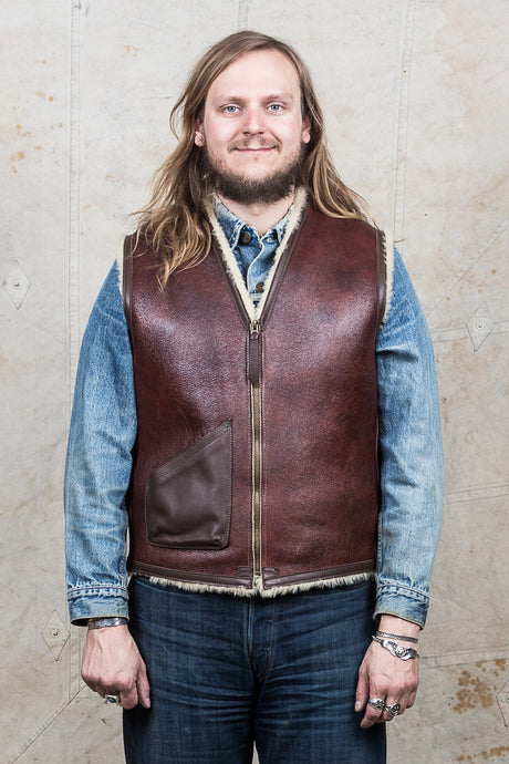 Secondhand Alexander Leathers x Unionville C-3 Shearling Vest