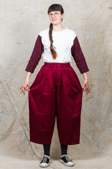 Workware Hong Kong Unisex Balloon Pants Wine