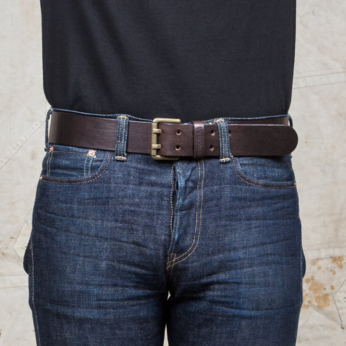 Indigofera Wayne Leather Belt Dark Brown