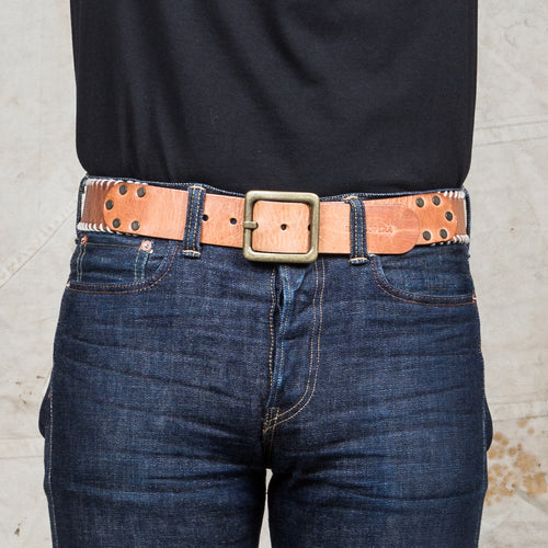 Indigofera Stu Leather Belt