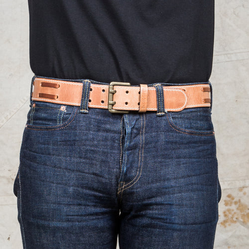 Indigofera Luke Leather Belt