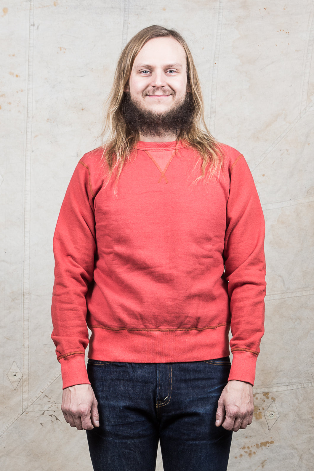 Buzz Rickson´s Sweatshirt 4-Needle Red