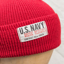 Papa Nui Cap Co. Arctic Research Watch Cap Red Wool