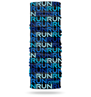 Run Blue <br> <b>STRETCH + MULTI USE HEADBAND </b>