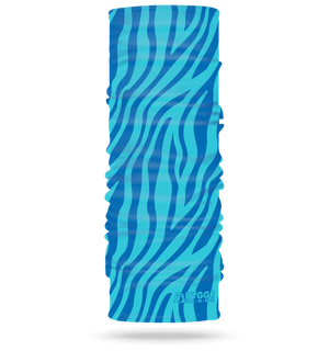 Zebra Blue <br> <b>STRETCH + MULTI USE HEADBAND </b>