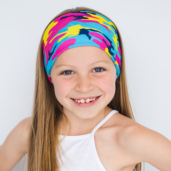 KIDS CAMO MULTI USE HEADBAND