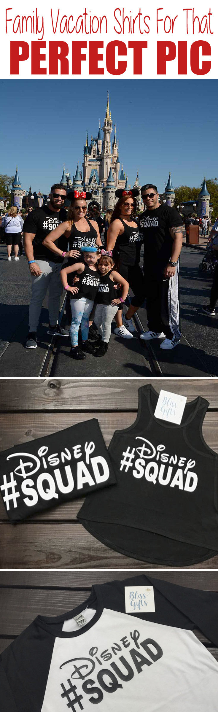 Matching Group Family Vacation Shirts For Disney #Disney Squad