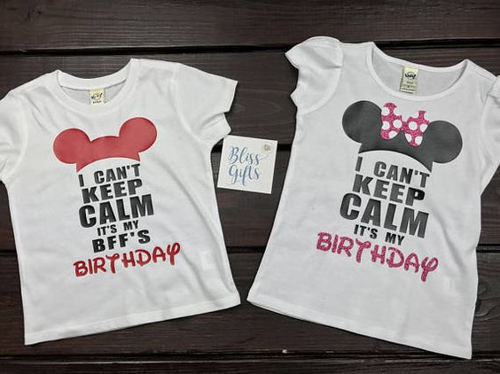 I Cant Keep Calm Its My Birthday Disney Shirt Minnie
