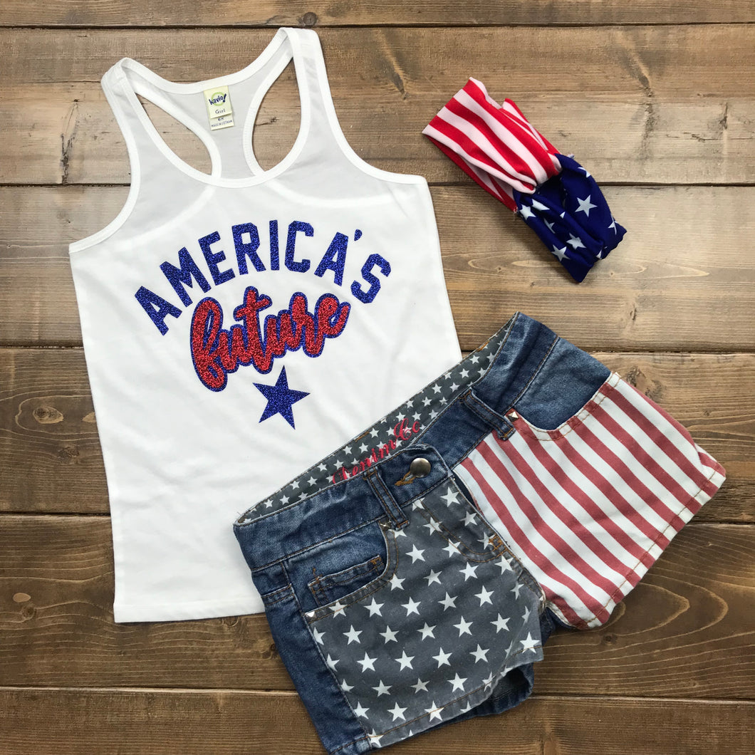 America's Future, Fourth OF July Shirt For Girl's and Boys Kids