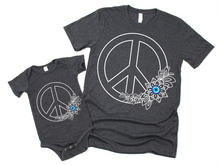 Floral Peace Sign with Evil Eye