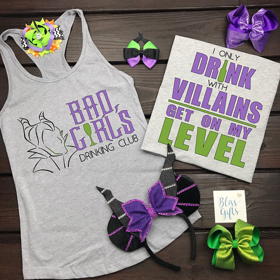 Bad Girls Drinking Club, Epcot Food and Wine Shirt, Villain Drinking Shirts, Food and Wine Shirts