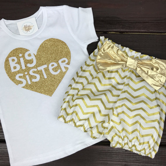 Big Sister Heart Shirt