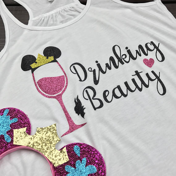 Drinking Beauty, Sleeping Beauty Drinking Shirt, Epcot Food and Wine Shirts, Food and Wine
