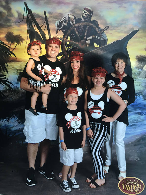FULL GLITTER Disney Cruise Shirts | Pirate Shirts Disney | Mickey Pirate Shirt | Disney Personalized Family Vacation Shirts | Disneyworld Shirts