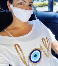 EVIL EYE LOVE ON WHITE TOP