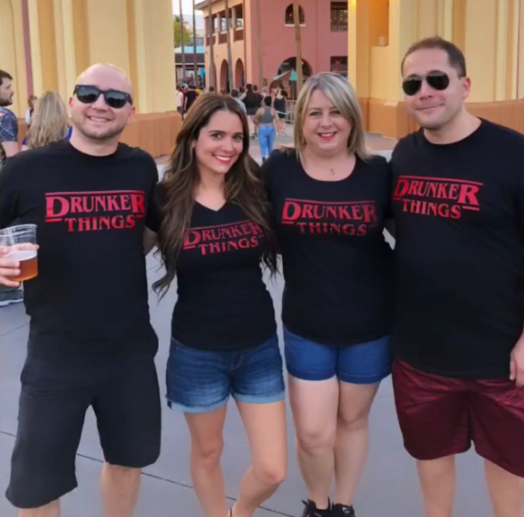 Stranger Things, Drunker Things, Halloween Horror Nights, HHN, Halloween, Scary Shirt