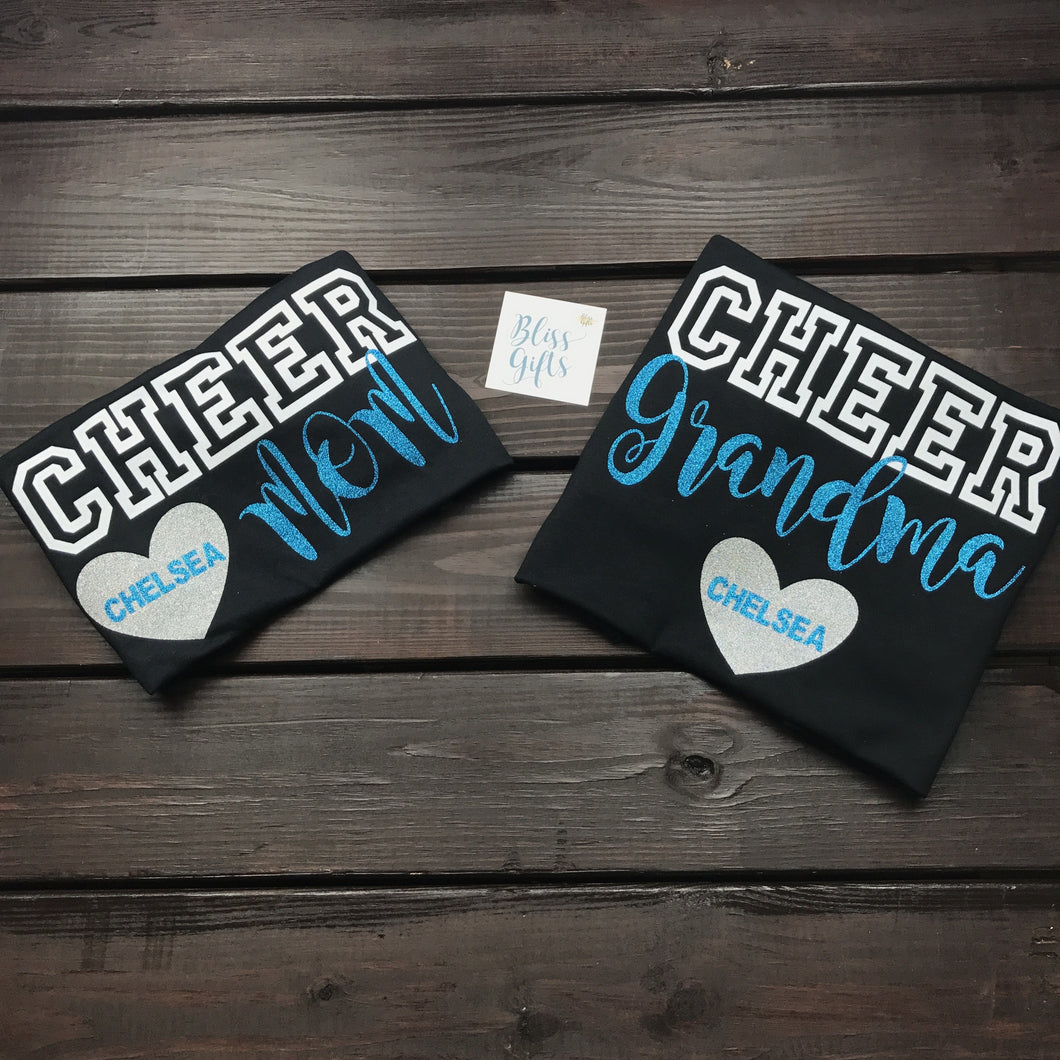 Personalized Cheer Mom Shirt