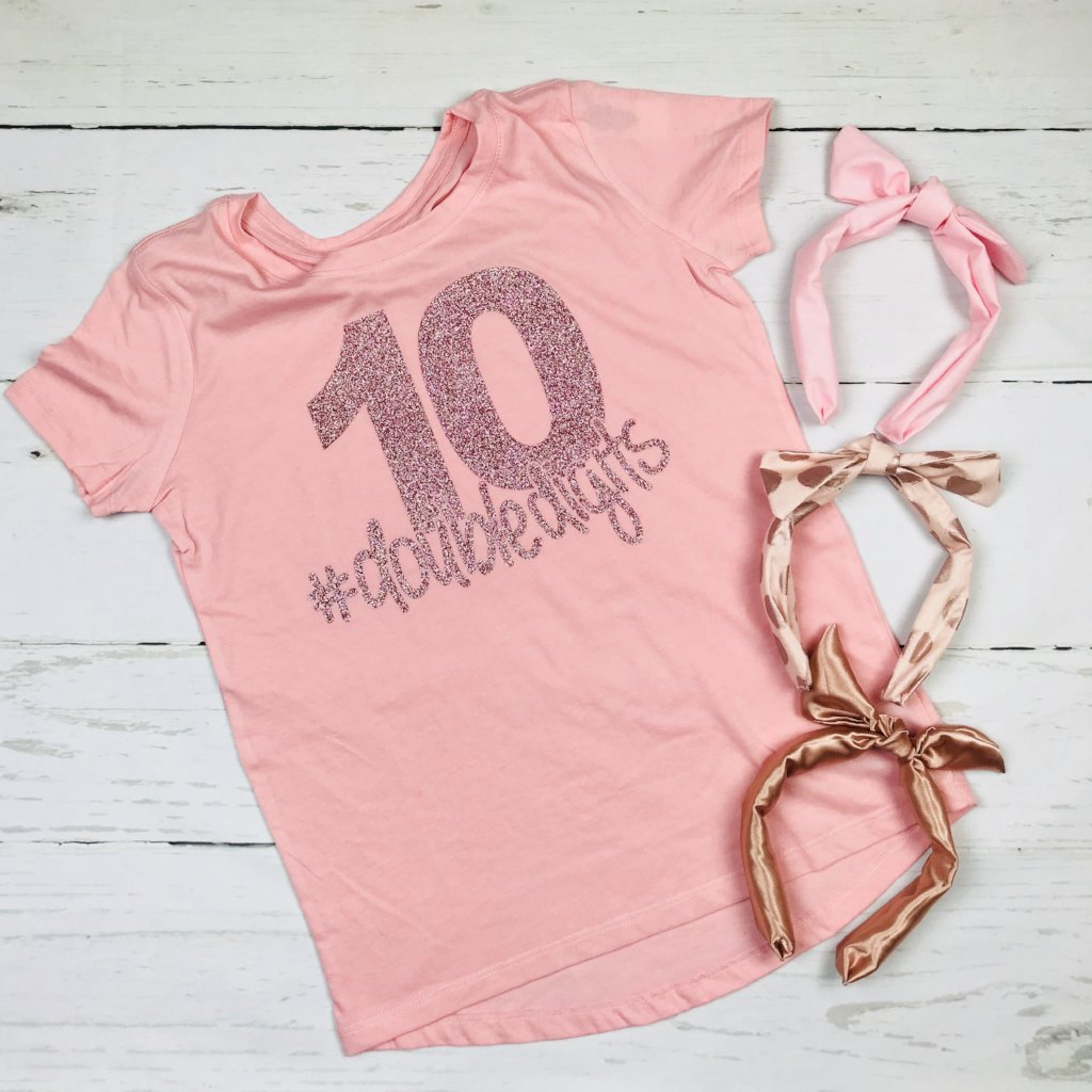10 Birthday Shirt, # double digits, rose gold glitter, Minnie Birthday Shirt, Birthday Princess, Birthday Gift Disney, Birthday Shirt, Disney shirts for women