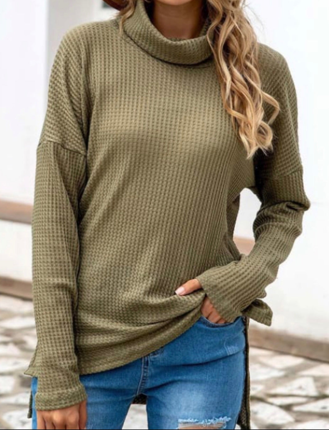 Cowl Neck High Low