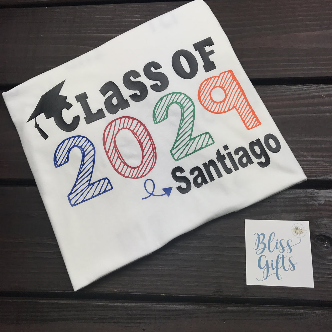 Class of Personalized Graduation Shirt
