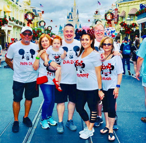 Family Vacation Shirts, Personalized Mouse Shirts