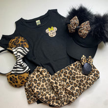 Cold Shoulder Camo / Leopard Shirt Animal Kingdom Safari Tee
