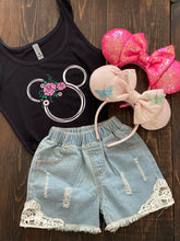 Mouse Floral Headband Shirt