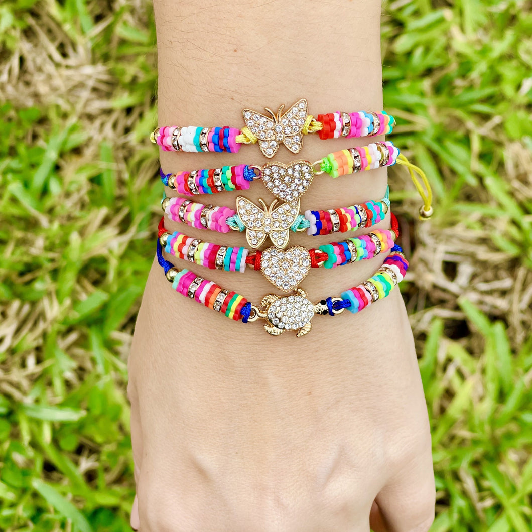 Multi-Colored Charm Bracelet