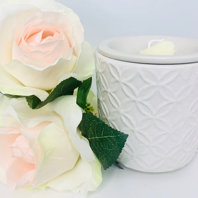 ABBY ELECTRIC WAX WARMER IN WHITE