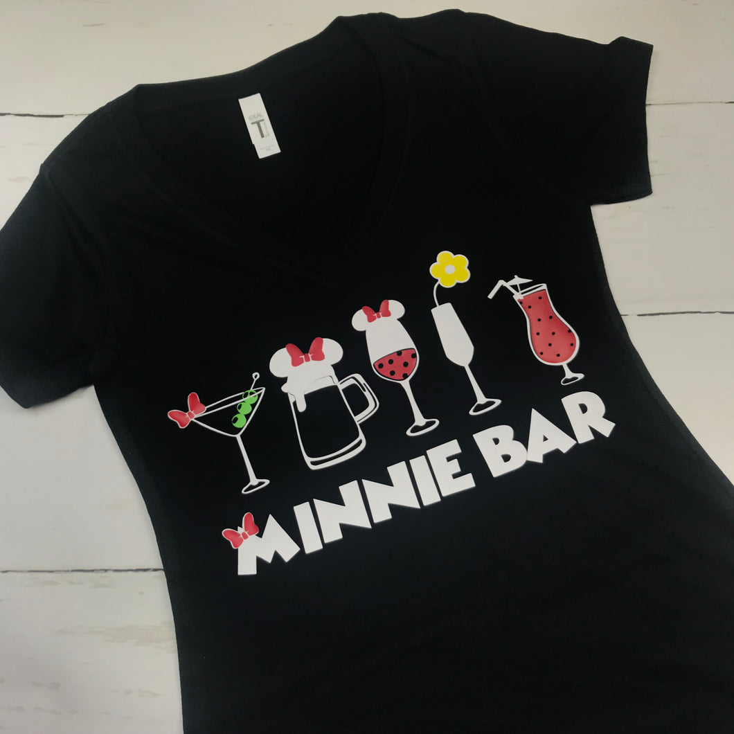 Black Shirt, Minnie Bar No Glitter, Epcot Food and Wine Shirts