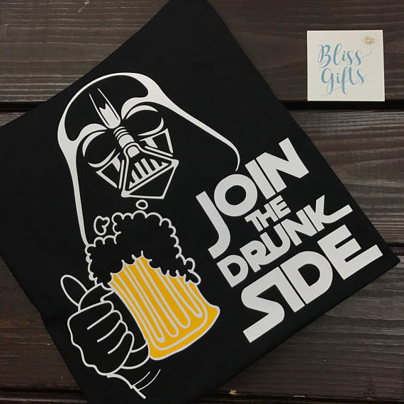 Join The Drunk Side, Darth Vader Drinking Shirt, Epcot Food and Wine Shirt for Men and Women