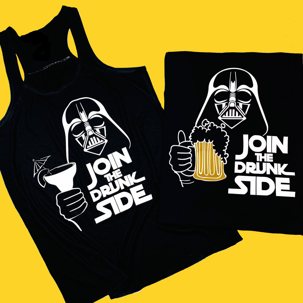 Join The Drunk Side Food and Wine Star Wars Shirt
