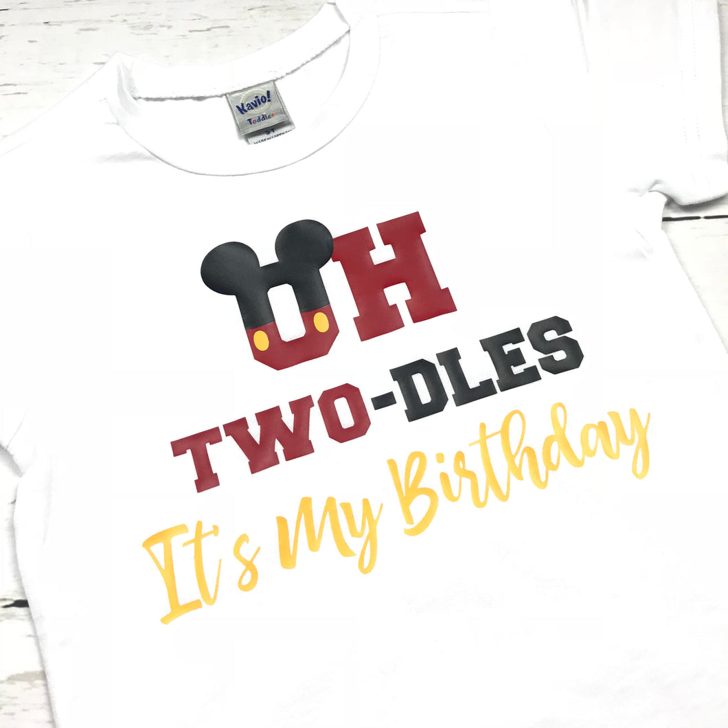 Two Year Old Birthday, Oh Two-Dles, It's My Birthday, Disney Birthday, Mickey Birthday