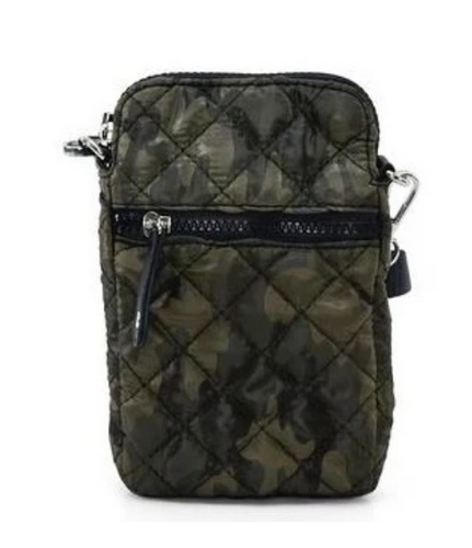 Quilted Cross Body Bag - Camo