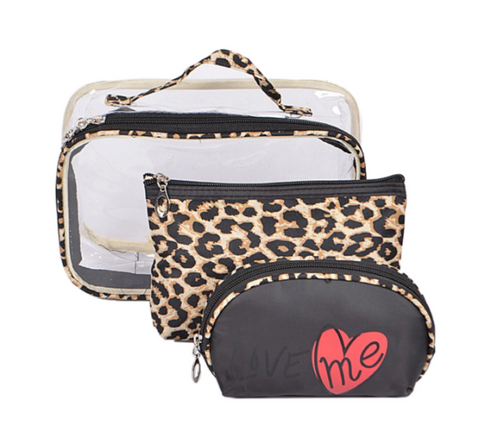 Leopard Travel Bag Set