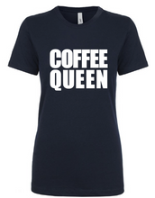 Coffee Queen on Black or White Shirts