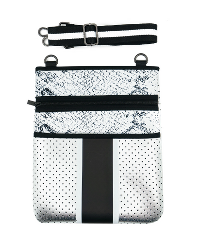 Cross-body Neoprene Bag - Snake