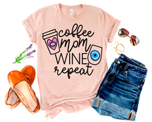 COFFEE MOM WINE REPEAT IN PRISM PEACH