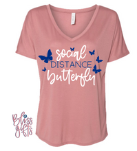 Social Distance Butterfly August BLISS BOX Mauve Shirt