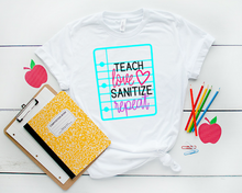 Teach Love Sanitize Repeat